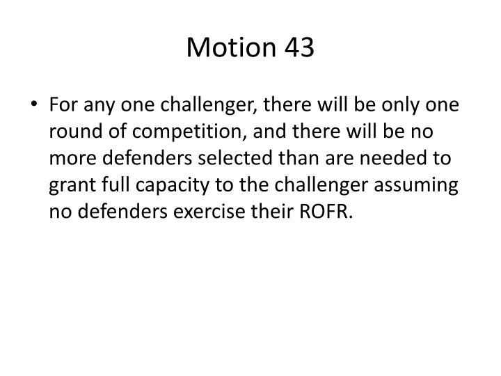 Motion 43