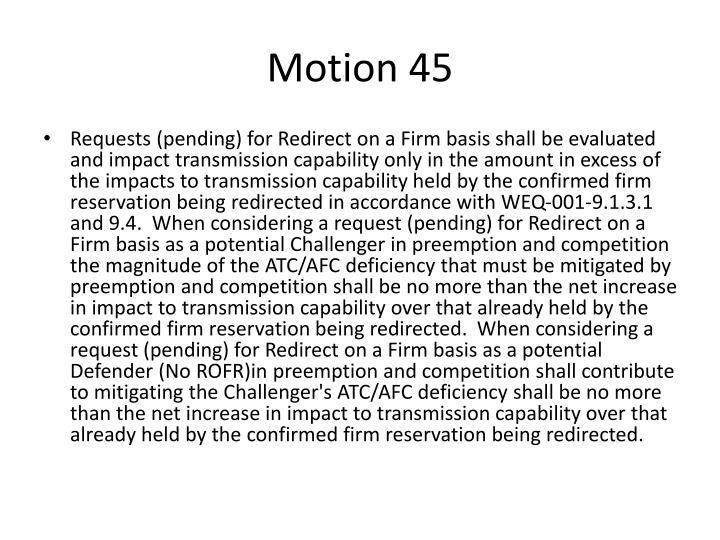 Motion 45