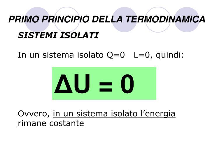 ppt primo principio della termodinamica powerpoint