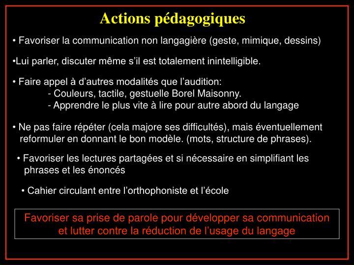 Actions pédagogiques