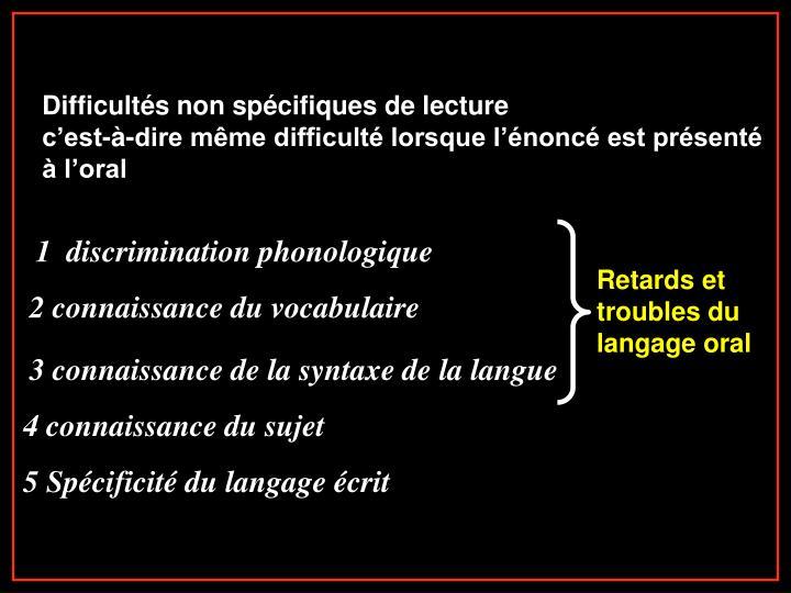 1  discrimination phonologique