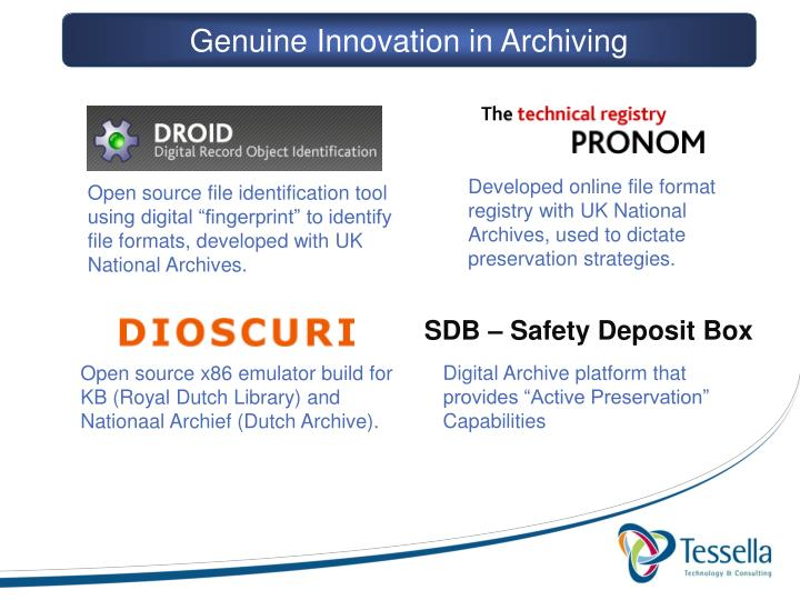 Genuine Innovation in Archiving