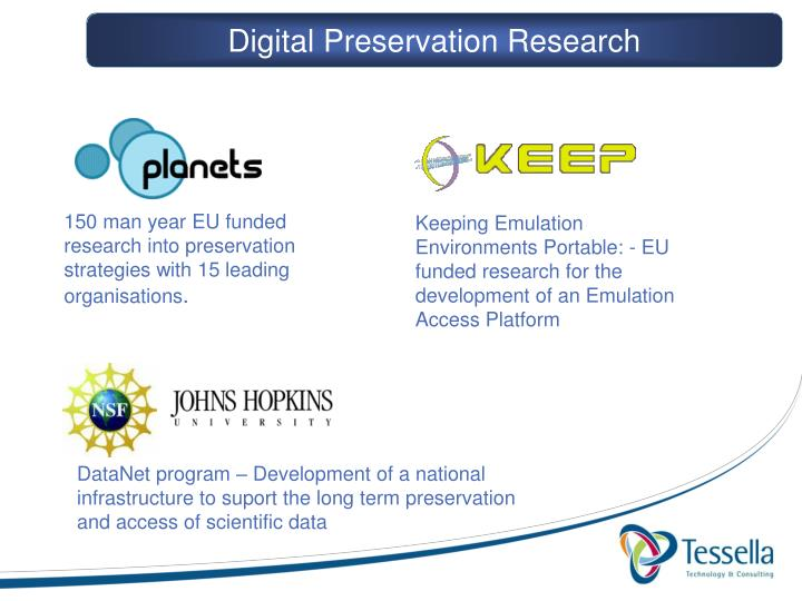 Digital Preservation Research