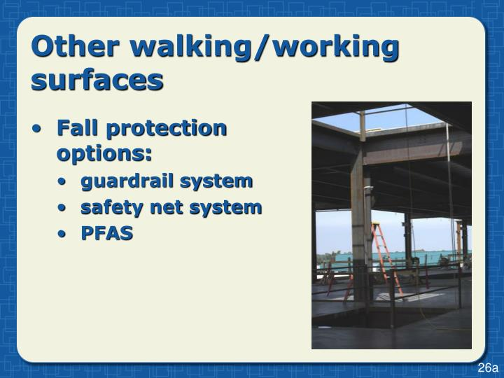 Other walking/working surfaces