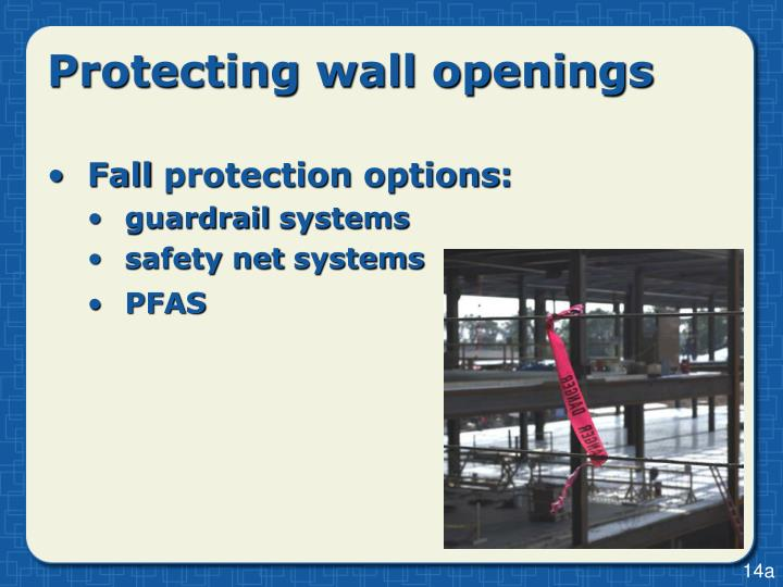 Protecting wall openings