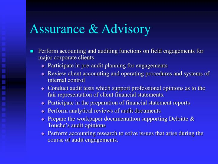 Assurance & Advisory