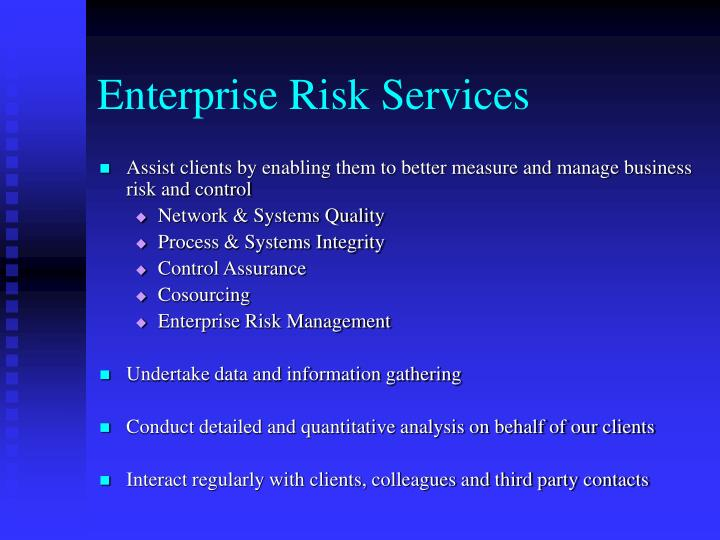 Enterprise Risk Services