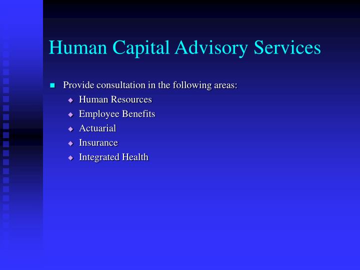 Human Capital Advisory Services