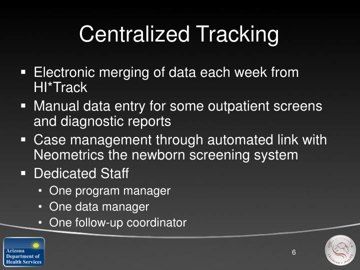 Centralized Tracking