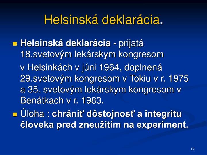 Helsinská deklarácia