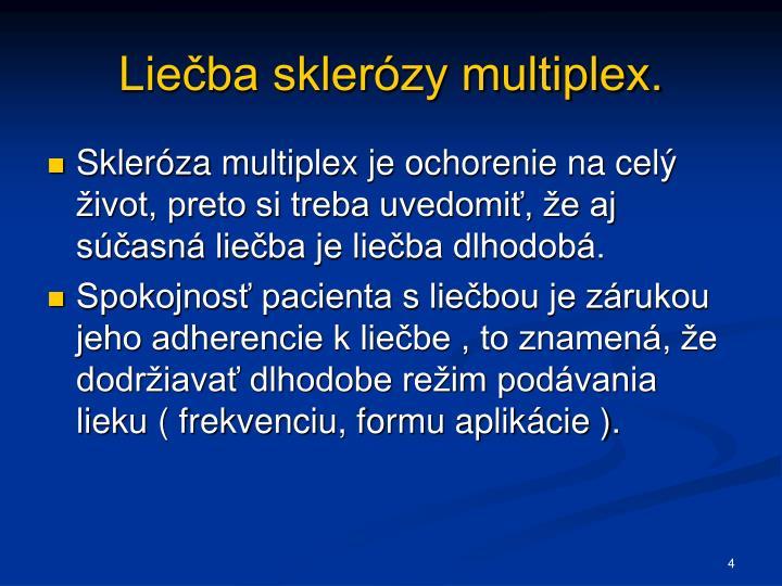 Liečba sklerózy multiplex.