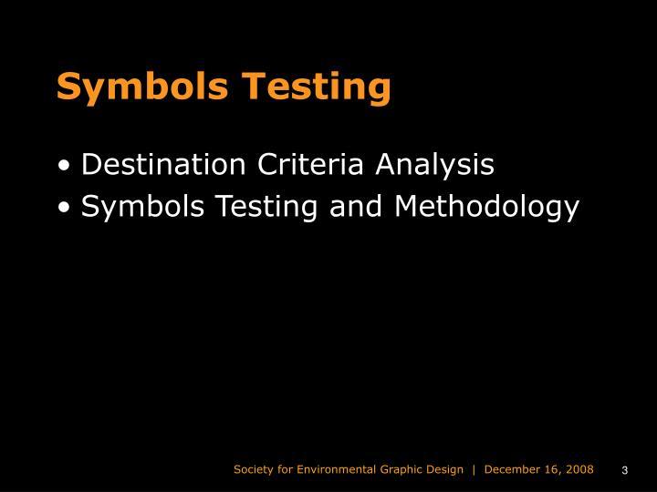 Symbols Testing