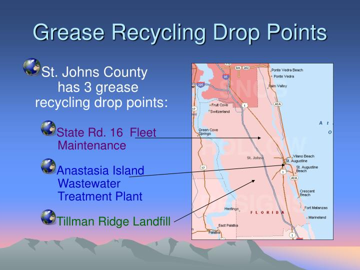 Grease Recycling Drop Points