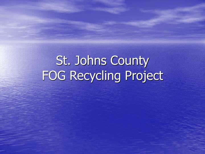 St johns county fog recycling project