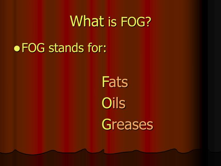 What is fog