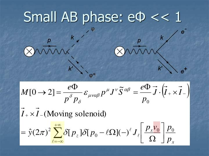 Small AB phase: e
