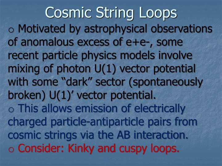 Cosmic String Loops