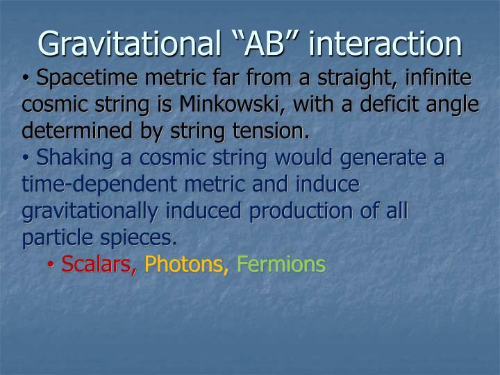 "Gravitational ""AB"" interaction"