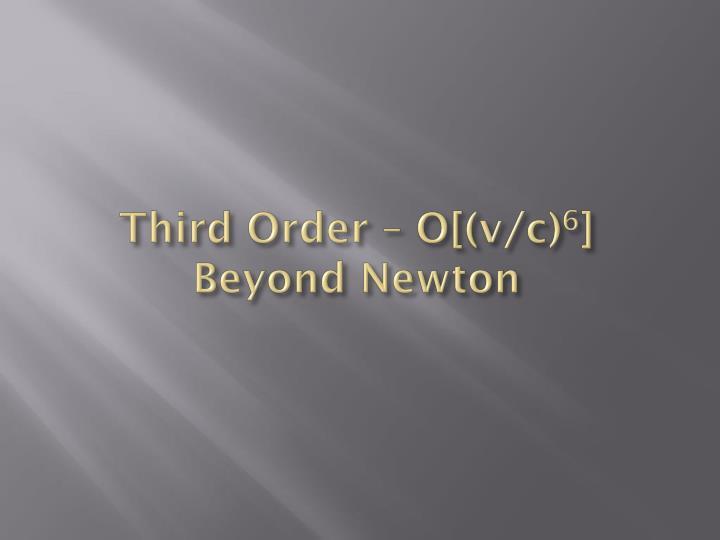 Third Order – O[(v/c)