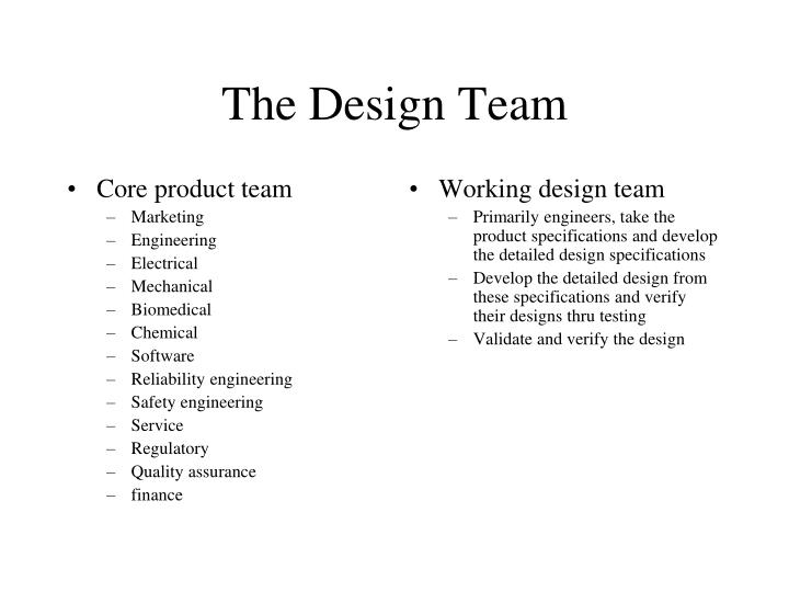 Core product team