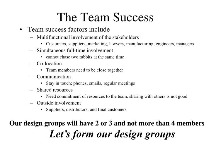 The Team Success