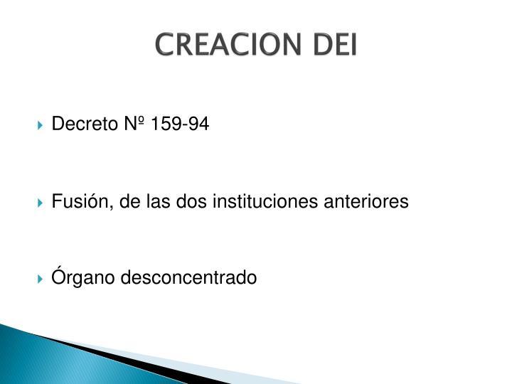 CREACION DEI