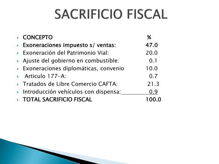 SACRIFICIO FISCAL