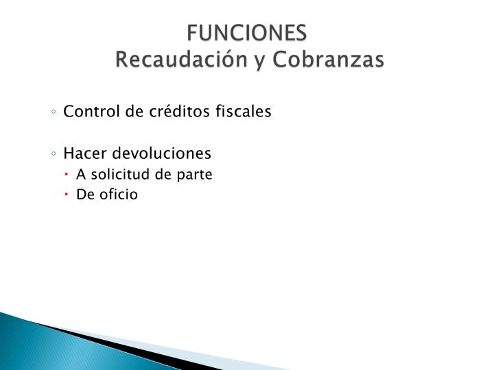 Control de créditos fiscales