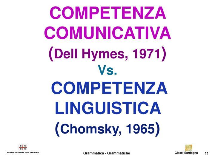 COMPETENZA COMUNICATIVA