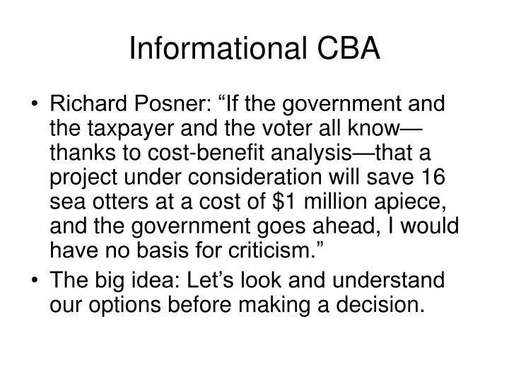 Informational CBA