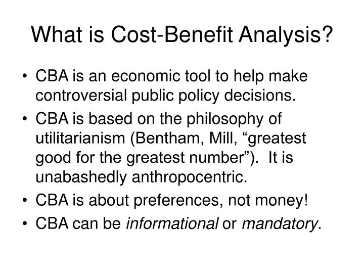 What is Cost-Benefit Analysis?