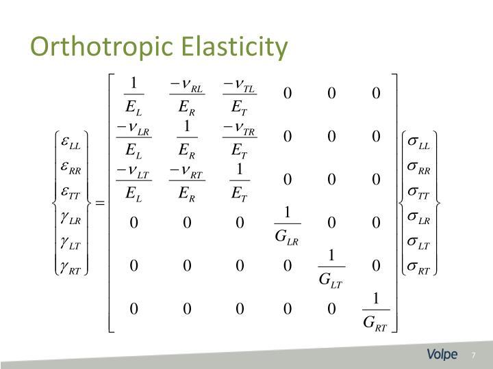Orthotropic Elasticity
