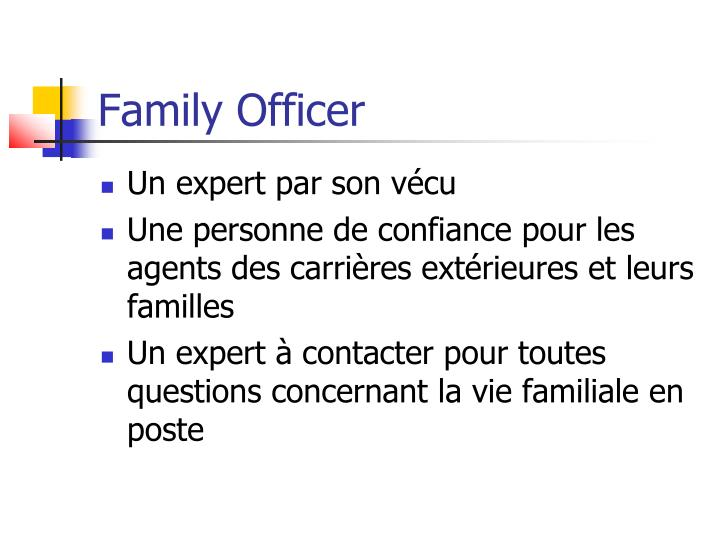 Family officer