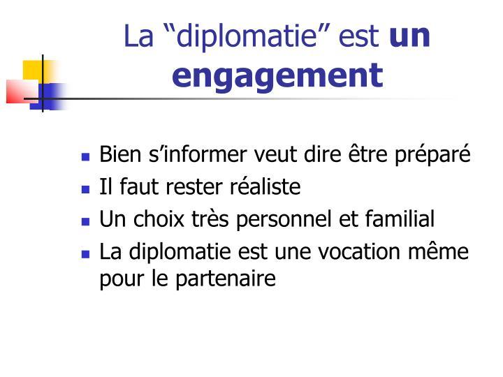 """La """"diplomatie"""" est"""