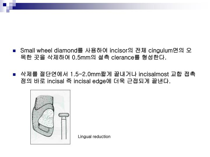 Small wheel diamond