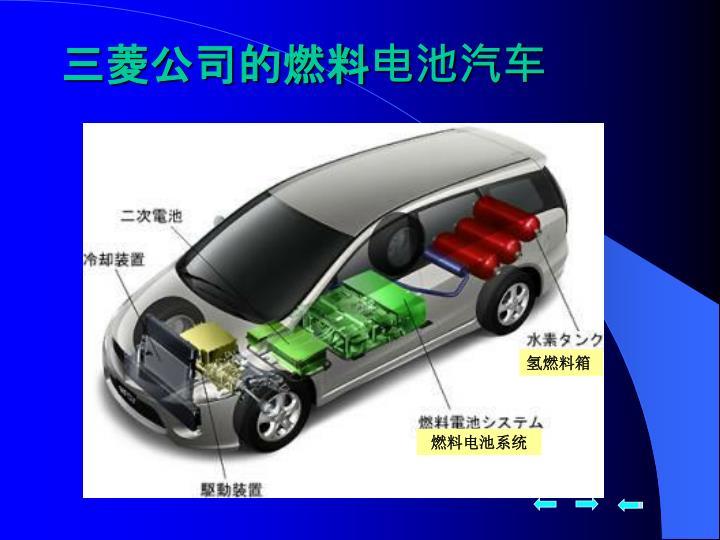 三菱公司的燃料电池汽车