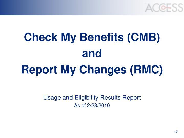 Check My Benefits (CMB)