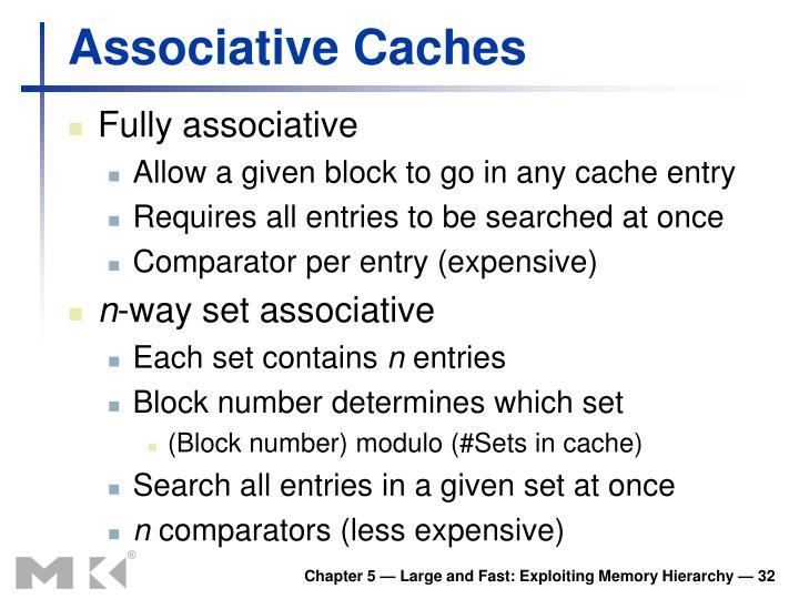 Associative Caches