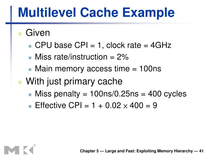 Multilevel Cache Example
