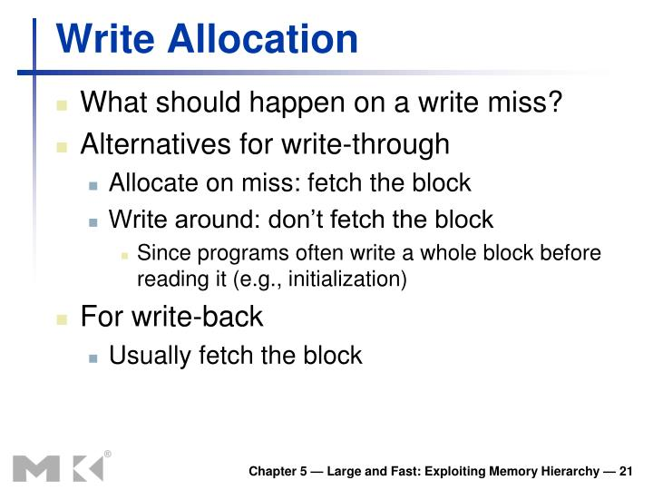 Write Allocation
