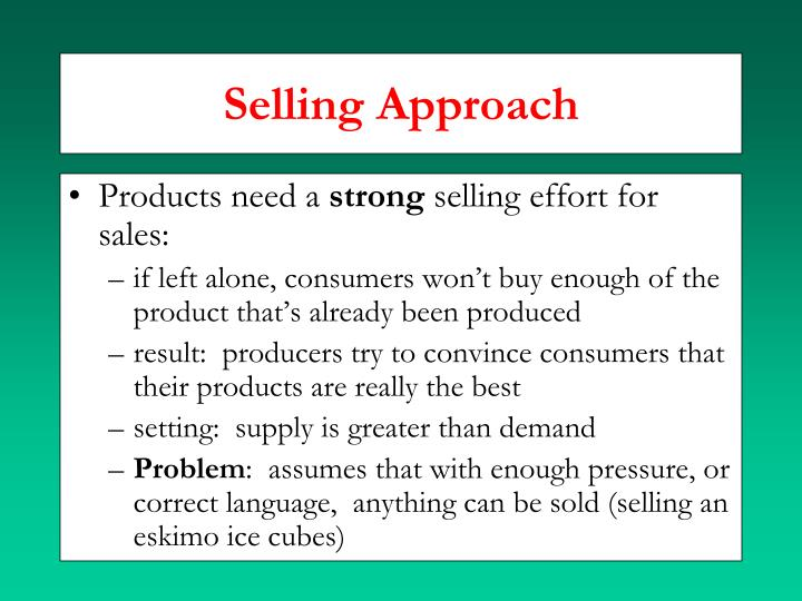 Selling Approach