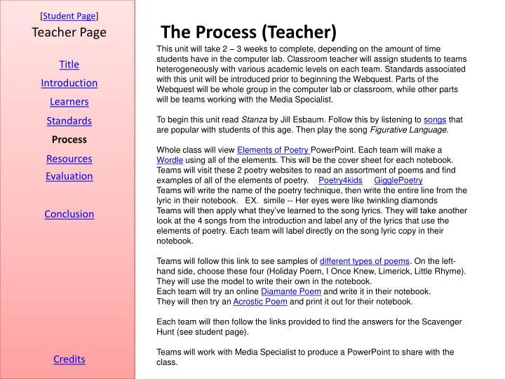 The Process (Teacher)