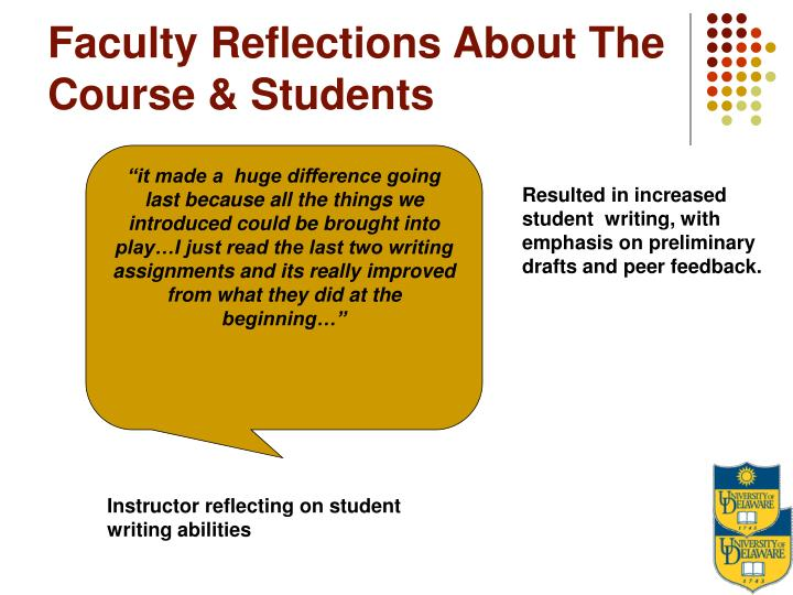 Faculty Reflections About The Course & Students