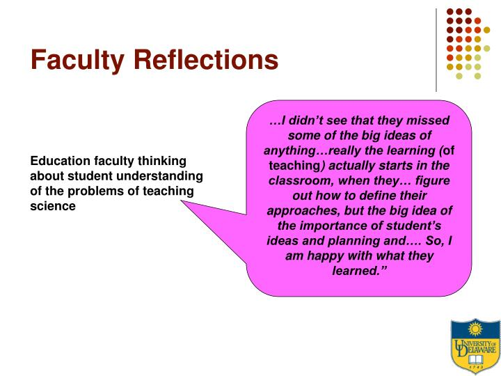 Faculty Reflections