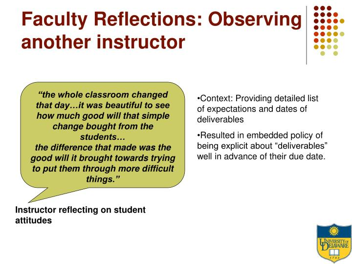 Faculty Reflections: Observing another instructor