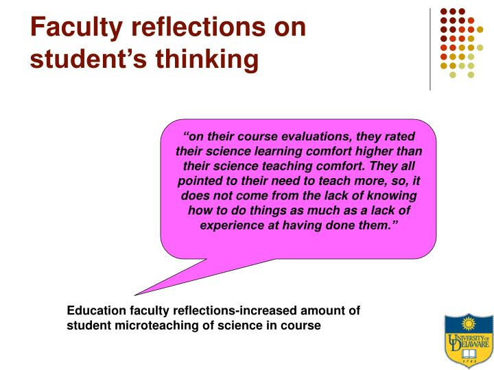 Faculty reflections on student's thinking