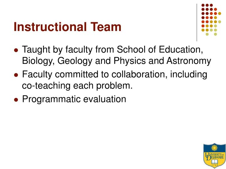 Instructional Team