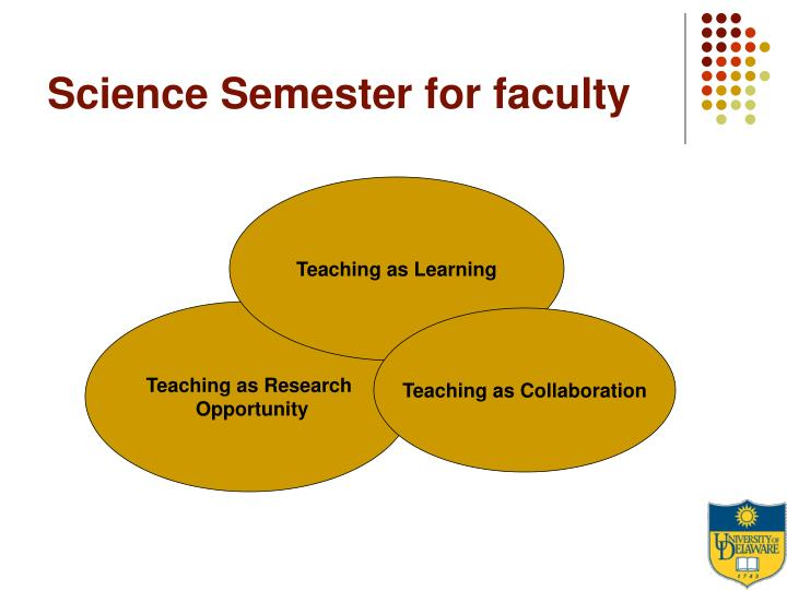Science Semester for faculty