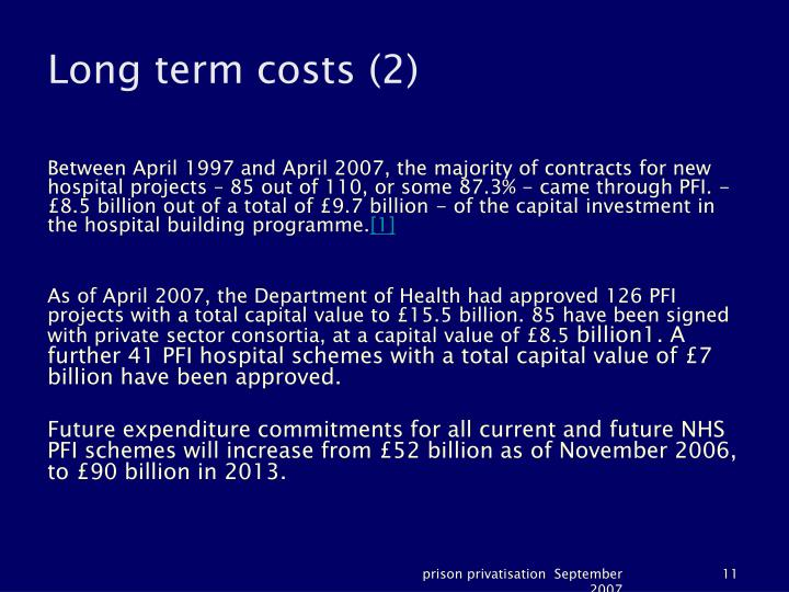 Long term costs (2)