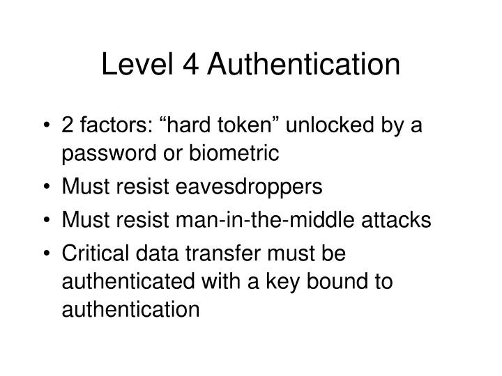 Level 4 Authentication